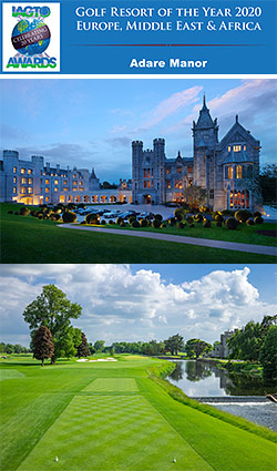 Adare Manor Voted Golf Resort of the Year at IAGTO Awards