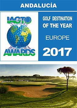 "Andalucía, selected as 'European Golf Destination of the Year"" at the 2017 IAGTO Awards"