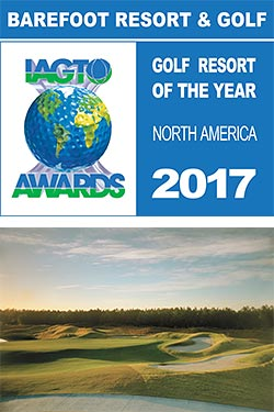 Barefoot Resort & Golf Named North America Golf Resort of the Year at 2017 IAGTO Awards
