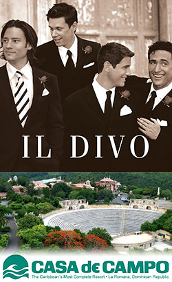 Il divo at casa de campo altos de chavon in - An evening with il divo ...