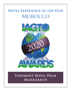 Fairmont Royal Palm Marrakech, Country Winner of the  2020 IAGTO Hotel Experience Award!