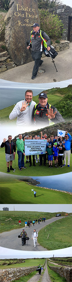 Cancer fighter Nick Edmund completes his epic 2,000km golf-walk of Ireland's wild side