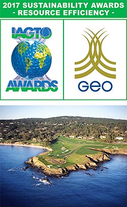 Pebble Beach Resorts wins 2017 IAGTO Sustainability Award for Resource Efficiency