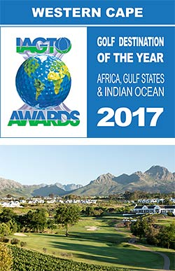 "Western Cape wins' award for ""Best International Golfing Destination"""