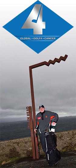 Nick Edmund hits first milestone on mammoth charity golf walk