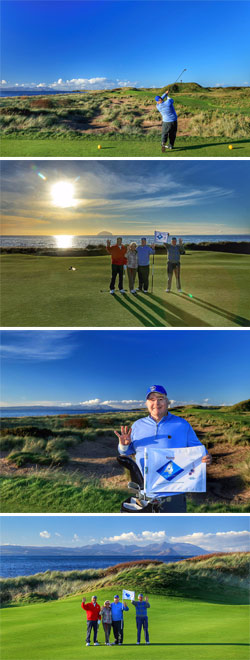 From Turnberry to Dornoch: Nick Edmund takes the Global Golf4 Cancer campaign to Scotland